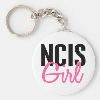 NCIS Girl 4 Basic Round Button Keychain