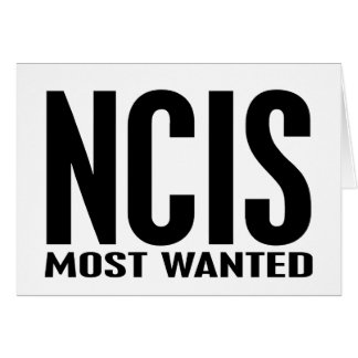 NCIS Most Wanted Card
