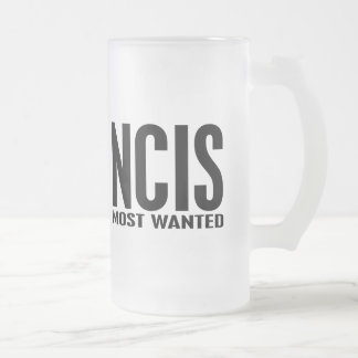 NCIS Most Wanted Frosted Glass Beer Mug