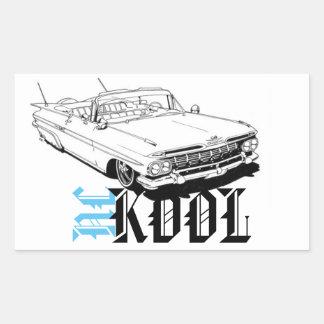 Nckool Low Rider Rectangular Sticker