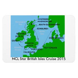 NCL Star British Isles Cruise 2015 Magnet