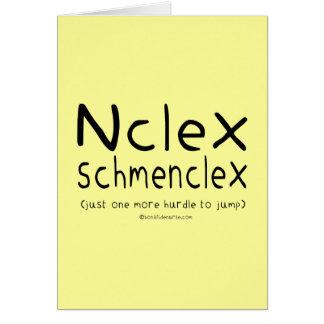 NCLEX Schmenclex Nursing Exam Greeting Card