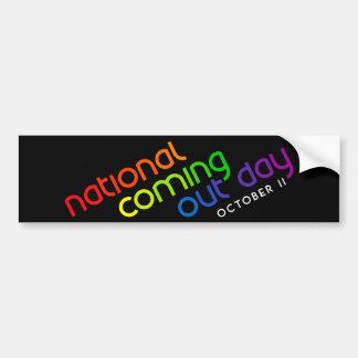 NCOD Inclined Black Bumper Sticker