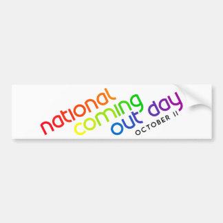 NCOD Inclined White Bumper Sticker