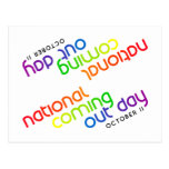 NCOD Inclined White Postcard