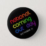 NCOD Rising Black Button