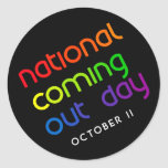 NCOD Rising Round Sticker