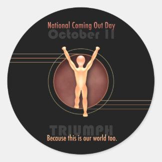 NCOD Triumph (With Text) Round Sticker