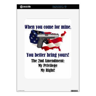 @nd Amendment Decal For iPad
