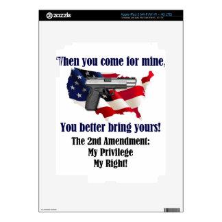 @nd Amendment iPad 3 Decal