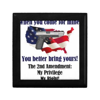@nd Amendment Keepsake Box