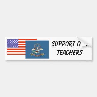 ND--Apoye a nuestros profesores Pegatina Para Auto