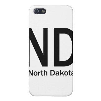 ND North Dakota plain black Case For iPhone SE/5/5s