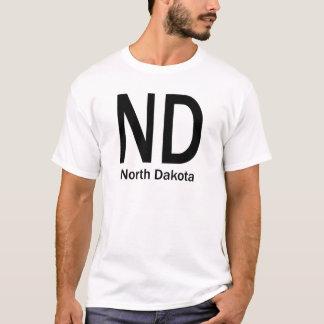 ND North Dakota plain black T-Shirt