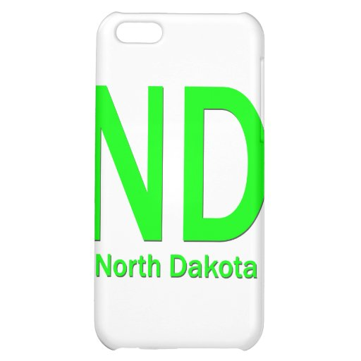 ND North Dakota plain green iPhone 5C Cases