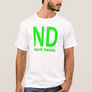 ND North Dakota plain green T-Shirt