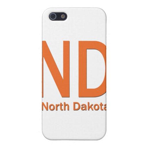 ND North Dakota plain orange iPhone 5 Covers