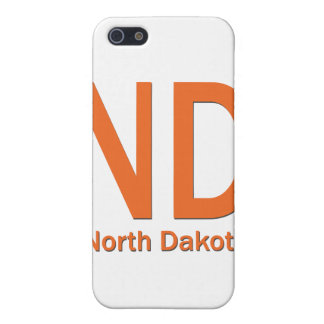 ND North Dakota plain orange iPhone SE/5/5s Cover