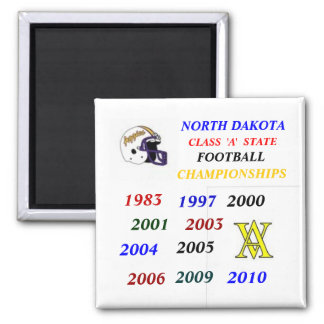 ND state FB champs 2 Inch Square Magnet