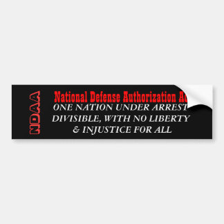 NDAA BUMPER STICKER
