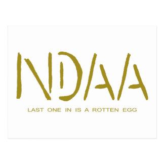 NDAA - El último uno adentro es un huevo Postales
