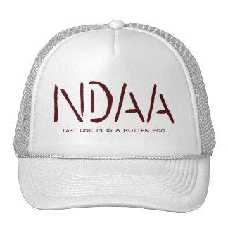 NDAA - Last one in is a rotten egg (dark red) Trucker Hats