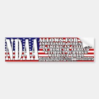 NDAA - What is this country coming to? Car Bumper Sticker