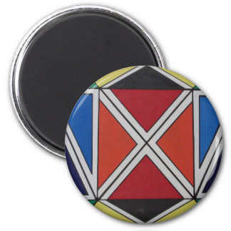 Ndebele art 2 inch round magnet