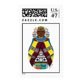 Ndebele South African Matryoshka Stamps