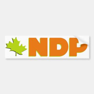 NDP Bumber sticker