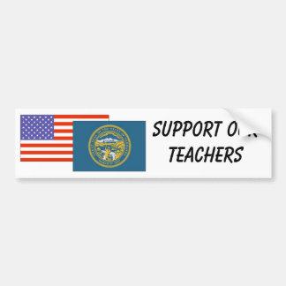 NE--Apoye a nuestros profesores Pegatina Para Auto