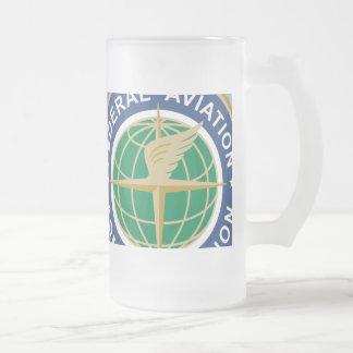 NE name Customized - Customized Frosted Glass Beer Mug