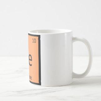 Ne - Nectarine Fruit Chemistry Periodic Table Classic White Coffee Mug