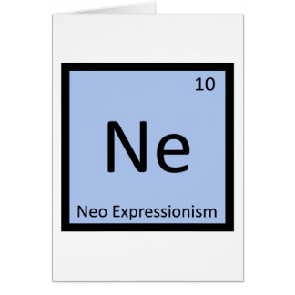 Ne - Neo Expressionism Art Chemistry Symbol Card