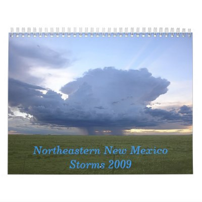NE New Mexico Storms 2009 Wall Calendars