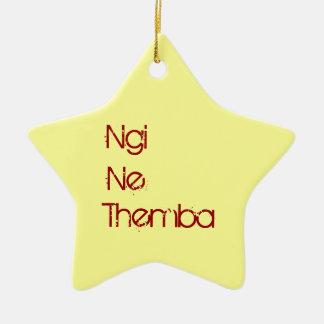 Ne Themba de Ngi - tengo esperanza Adorno Navideño De Cerámica En Forma De Estrella