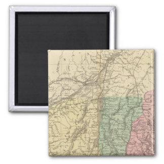 NE United States 2 Inch Square Magnet
