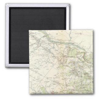 NE Virginia, Washington 1 2 Inch Square Magnet