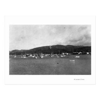 Neah Bay, WA View with Fishing Boats Photograph Postcard