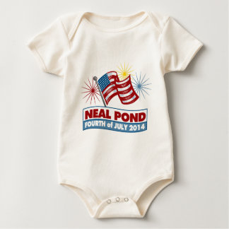 Neal Pond 2014 - Flag Baby Bodysuit