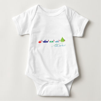 Neal Pond Boat Parade Baby Bodysuit