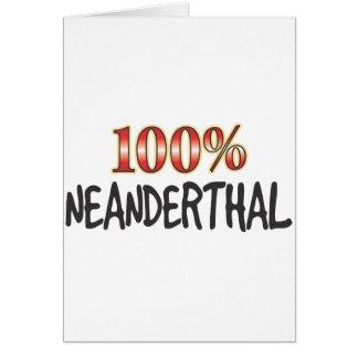 Neanderthal 100 Percent Card