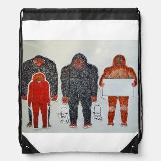 Neanderthal 3 friends, drawstring bag
