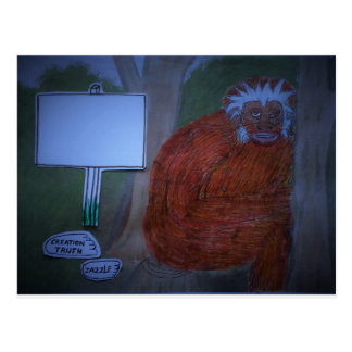 Neanderthal at night, postcard