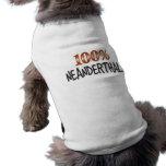 Neanderthal el 100 por ciento playera sin mangas para perro