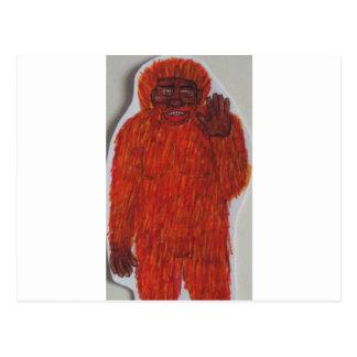 Neanderthal man postcard