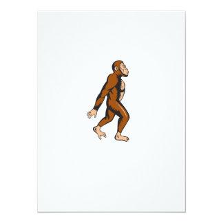 Neanderthal Man Walking Side Cartoon 5.5x7.5 Paper Invitation Card
