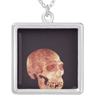 Neanderthal Skull, discovered on Mt Carmel Square Pendant Necklace