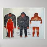 Neanderthal y 3 amigos, impresiones