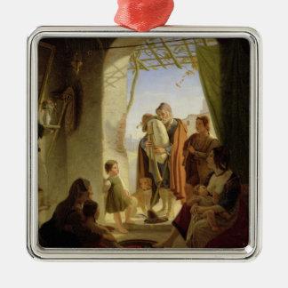 Neapolitan bagpipe player in wintry Rome, 1833 Metal Ornament